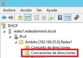 Concesiones de direcciones